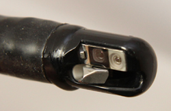 Closeup of duodenoscope tip. Photo: FDA
